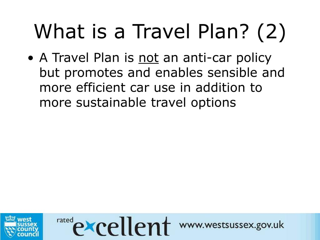 What is a Travel Plan? (2)