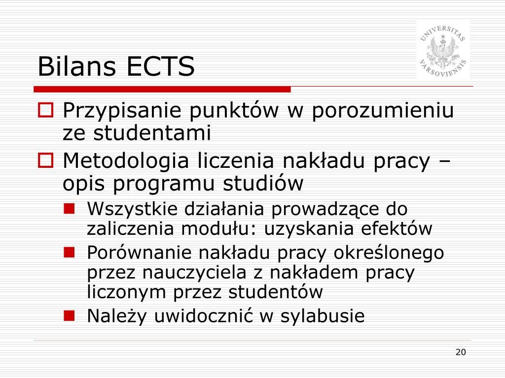 Bilans ECTS