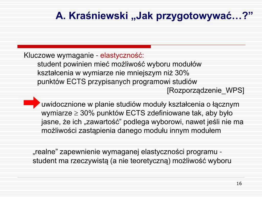 """A. Kraśniewski """"Jak przygotowywać…?"""""""