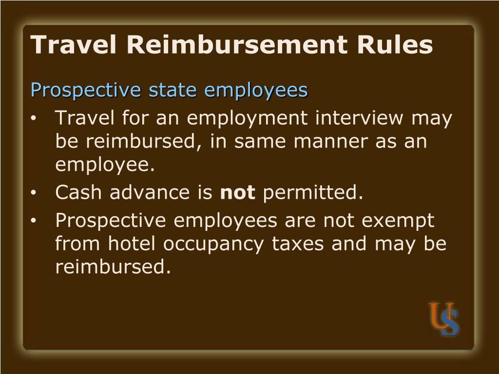 Travel Reimbursement Rules