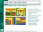 first star s boulder dash