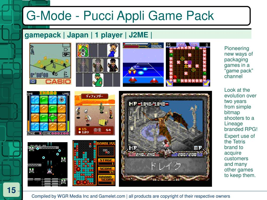 G-Mode - Pucci Appli Game Pack