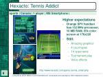 hexacto tennis addict