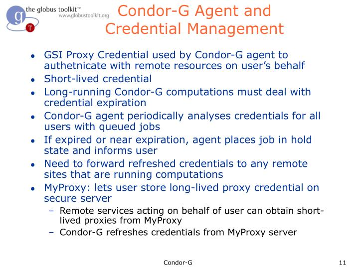Condor-G Agent and