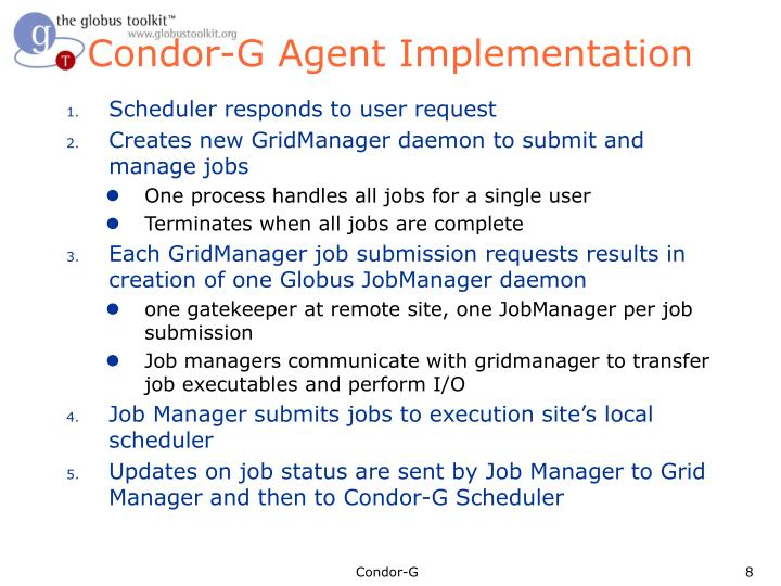 Condor-G Agent Implementation