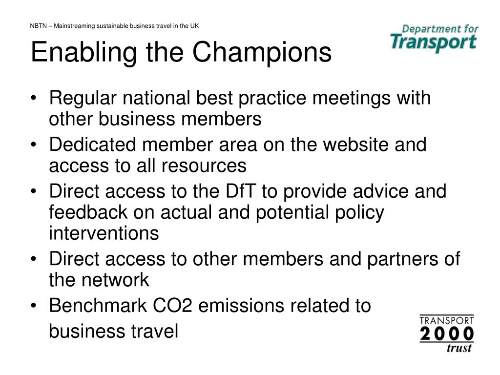 NBTN – Mainstreaming sustainable business travel in the UK
