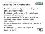 nbtn mainstreaming sustainable business travel in the uk enabling the champions