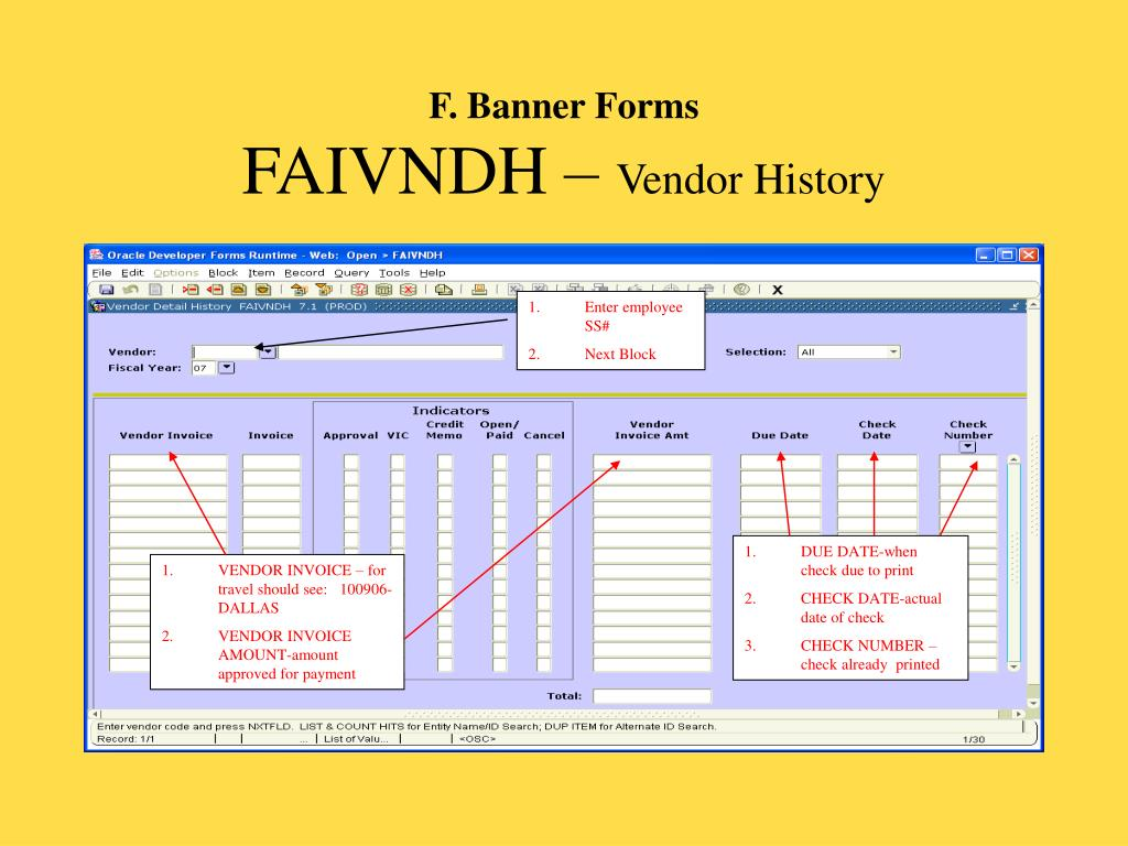 F. Banner Forms