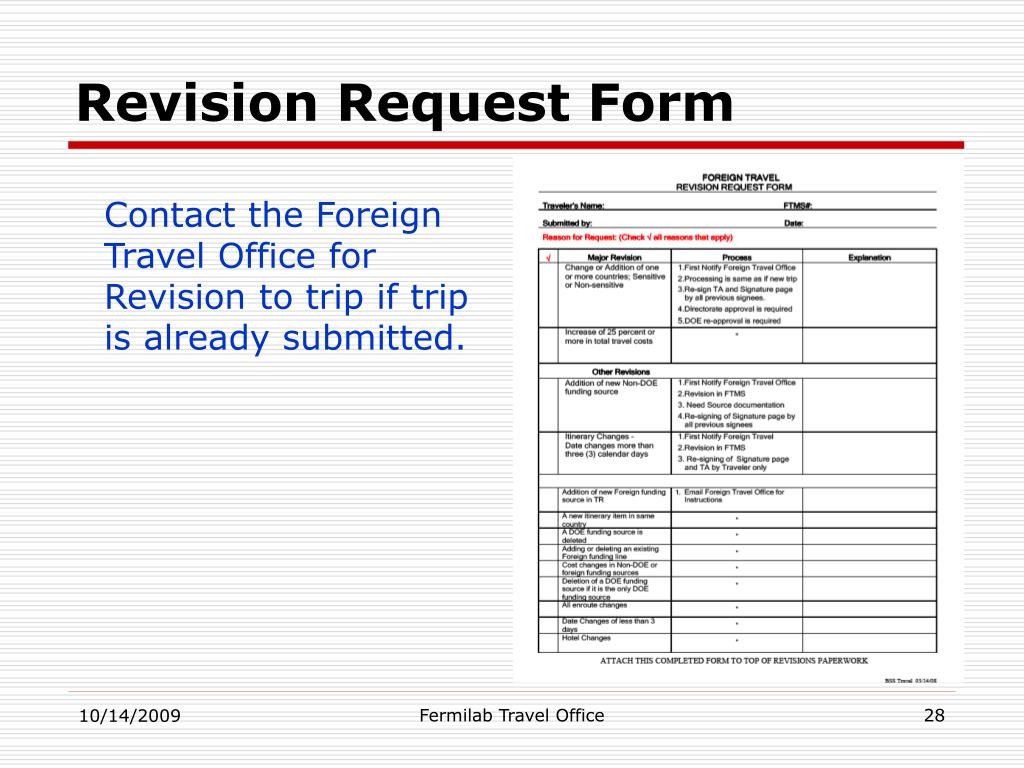 Revision Request Form