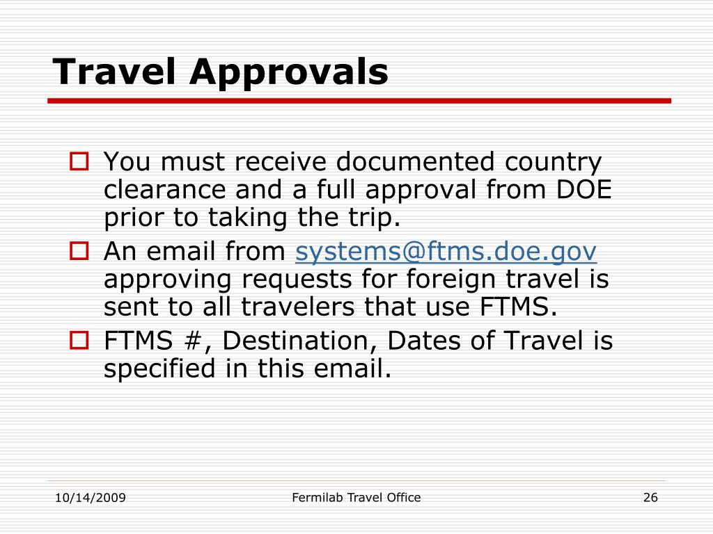 Travel Approvals