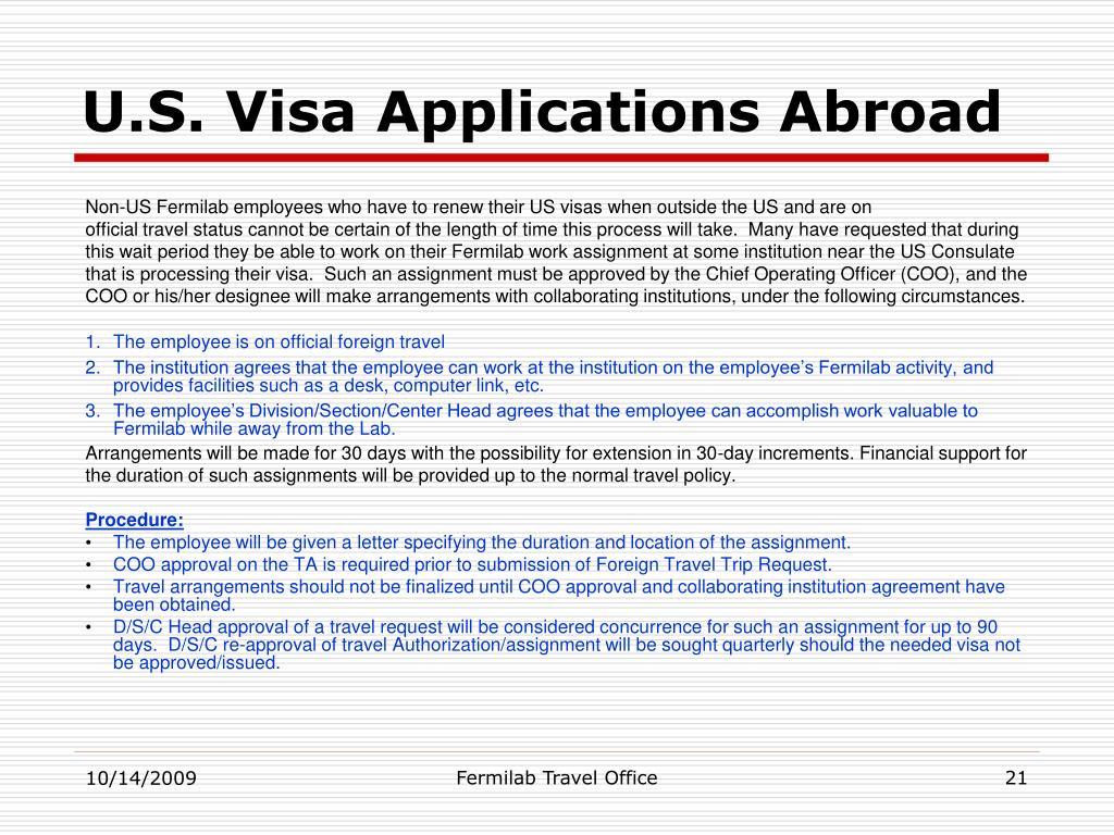 U.S. Visa Applications Abroad