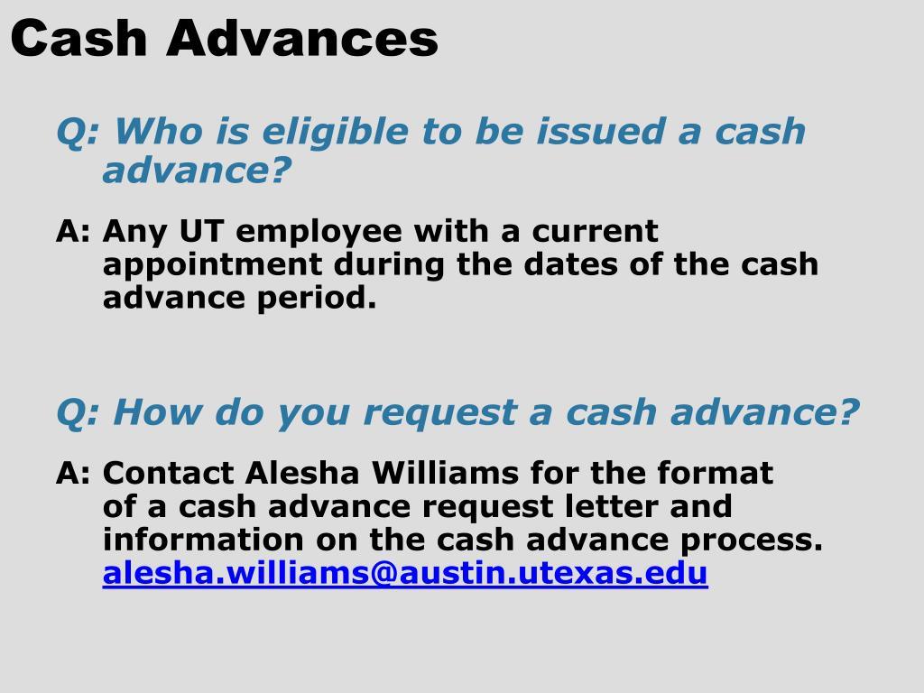 Cash Advances