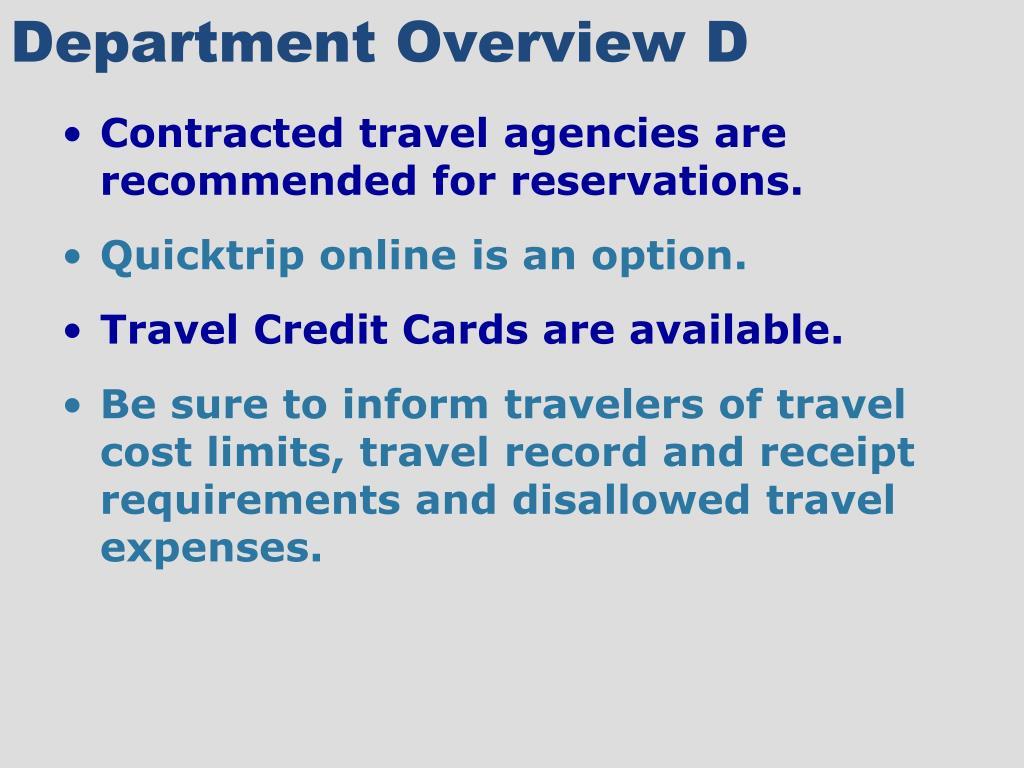 Department Overview D