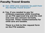 faculty travel grants74
