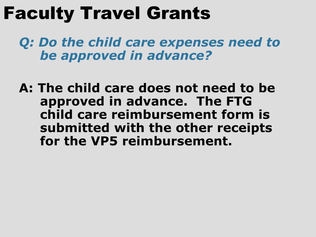 Faculty Travel Grants
