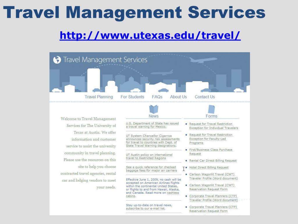 Travel Management Services