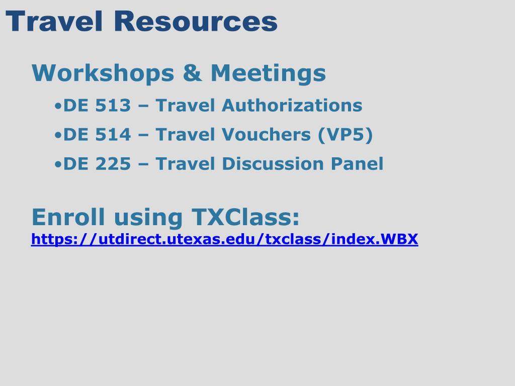 Travel Resources