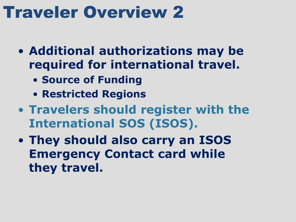 Traveler Overview 2