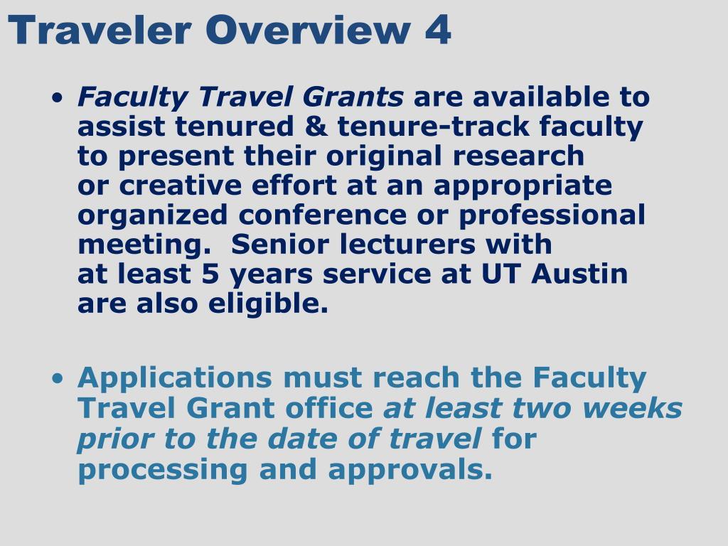 Traveler Overview 4