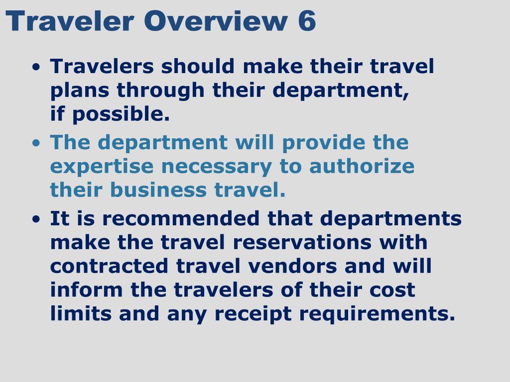 Traveler Overview 6