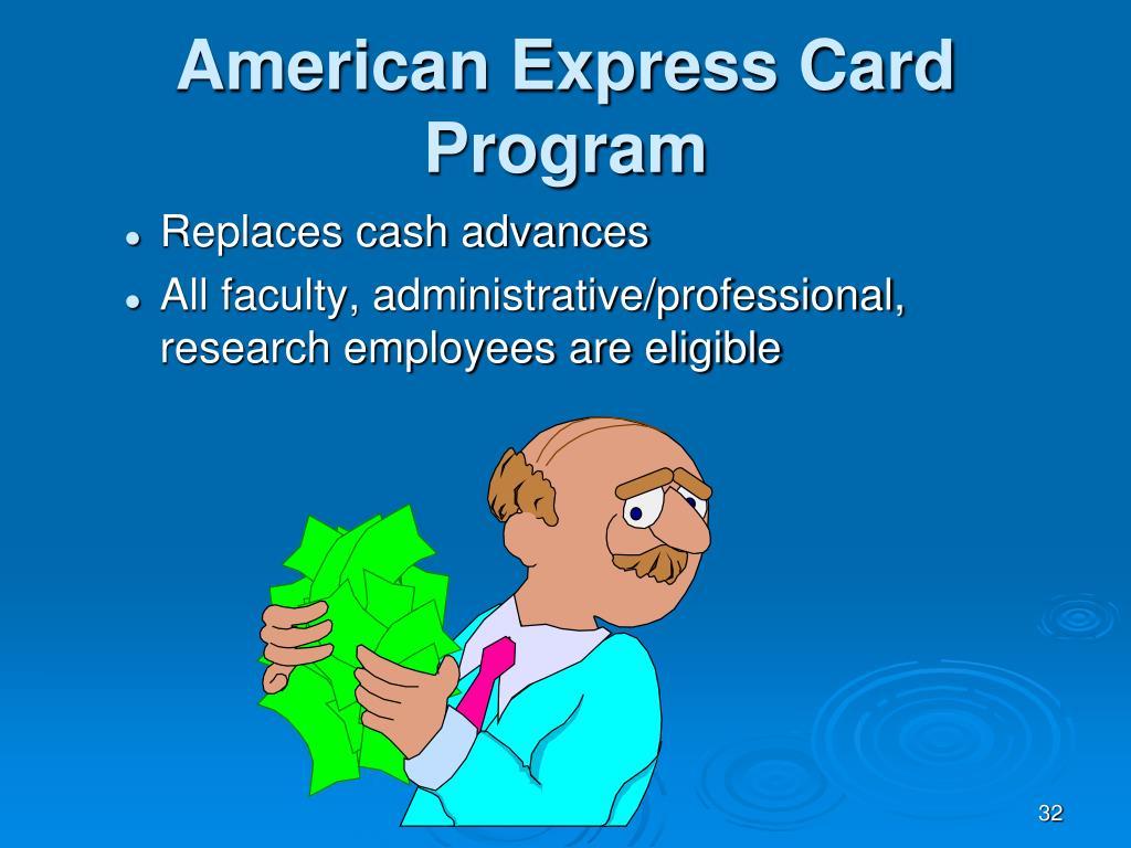 American Express Card Program