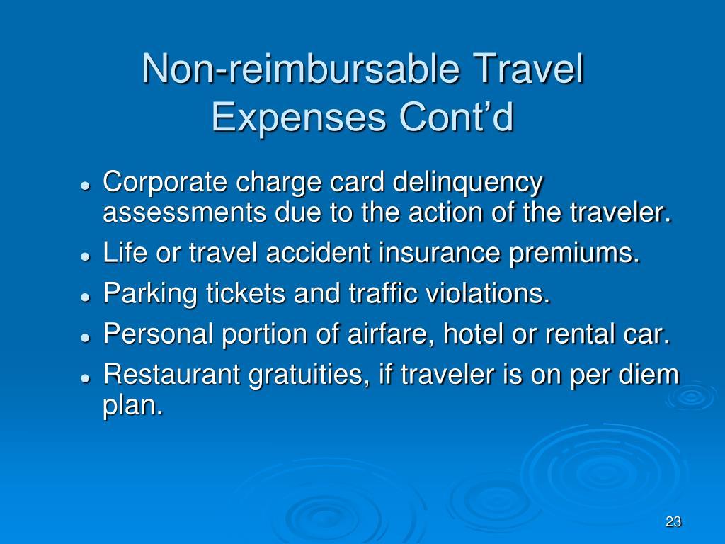 Non-reimbursable Travel