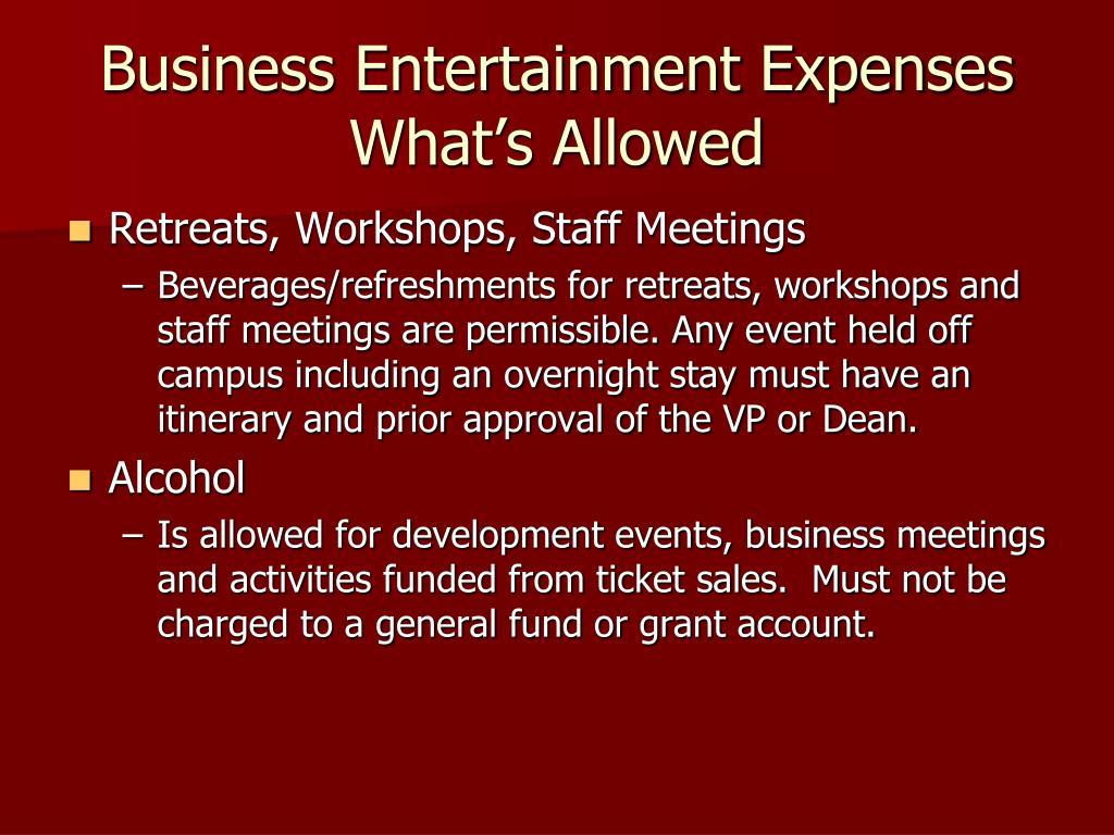 Business Entertainment Expenses