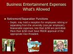 business entertainment expenses what s allowed14