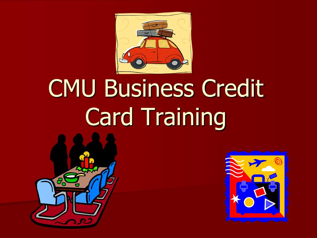 cmu business credit card training