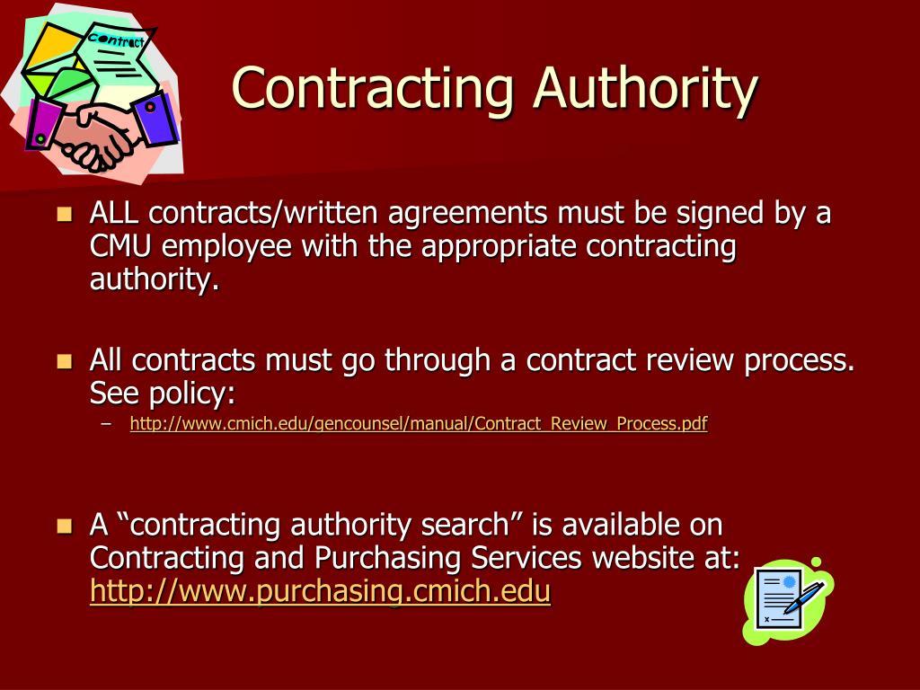 Contracting Authority