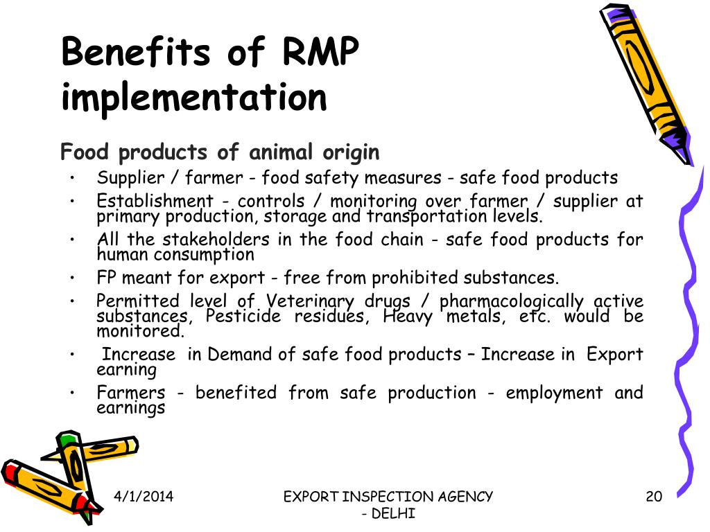 Benefits of RMP implementation