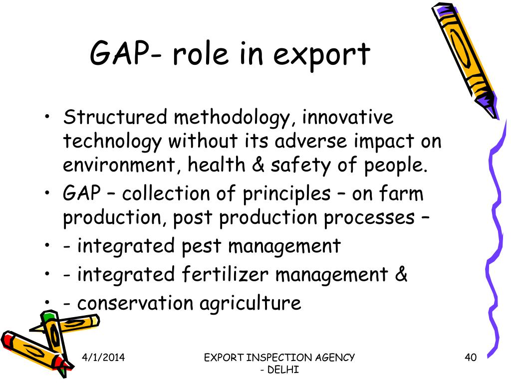 GAP- role in export