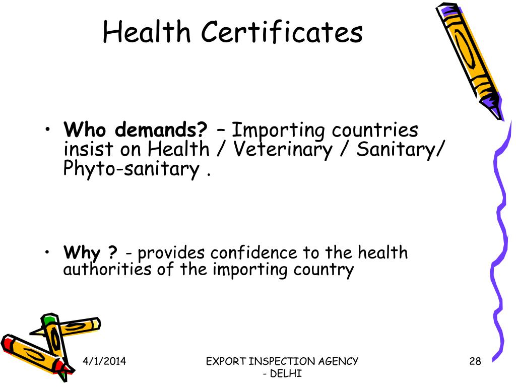 Health Certificates