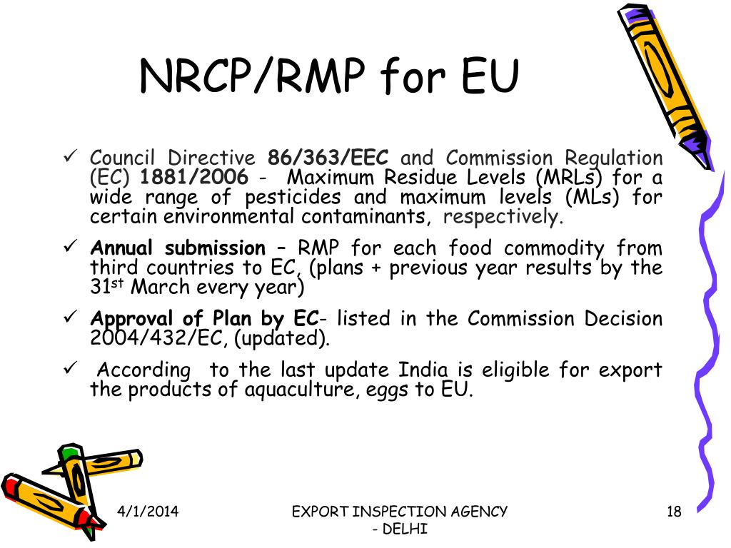 NRCP/RMP for EU