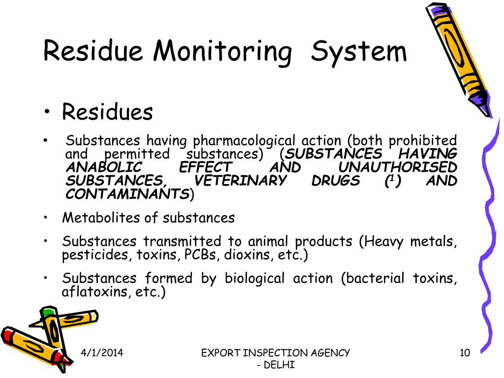Residue Monitoring  System