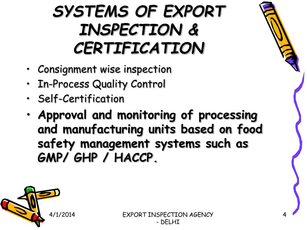 SYSTEMS OF EXPORT INSPECTION & CERTIFICATION
