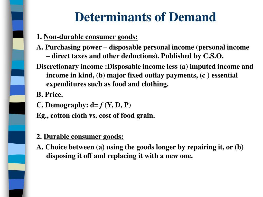 Determinants of Demand