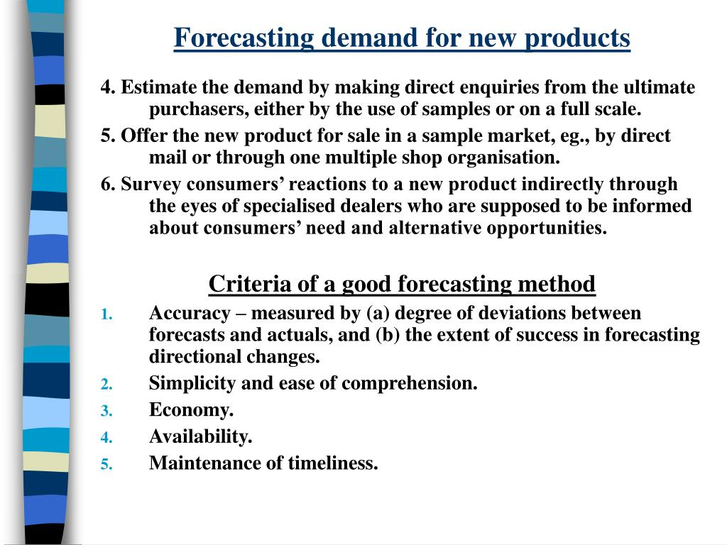 Forecasting demand for new products