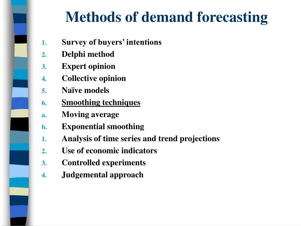 Methods of demand forecasting