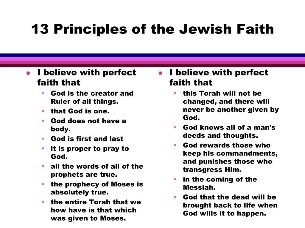 13 Principles of the Jewish Faith