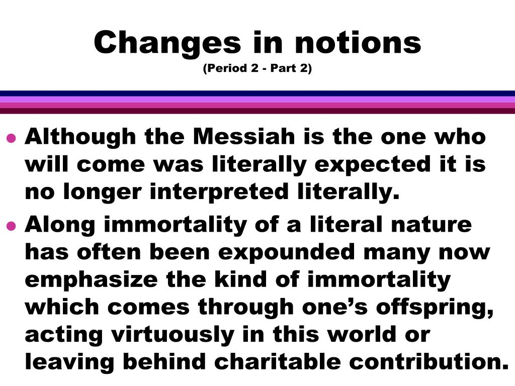 Changes in notions