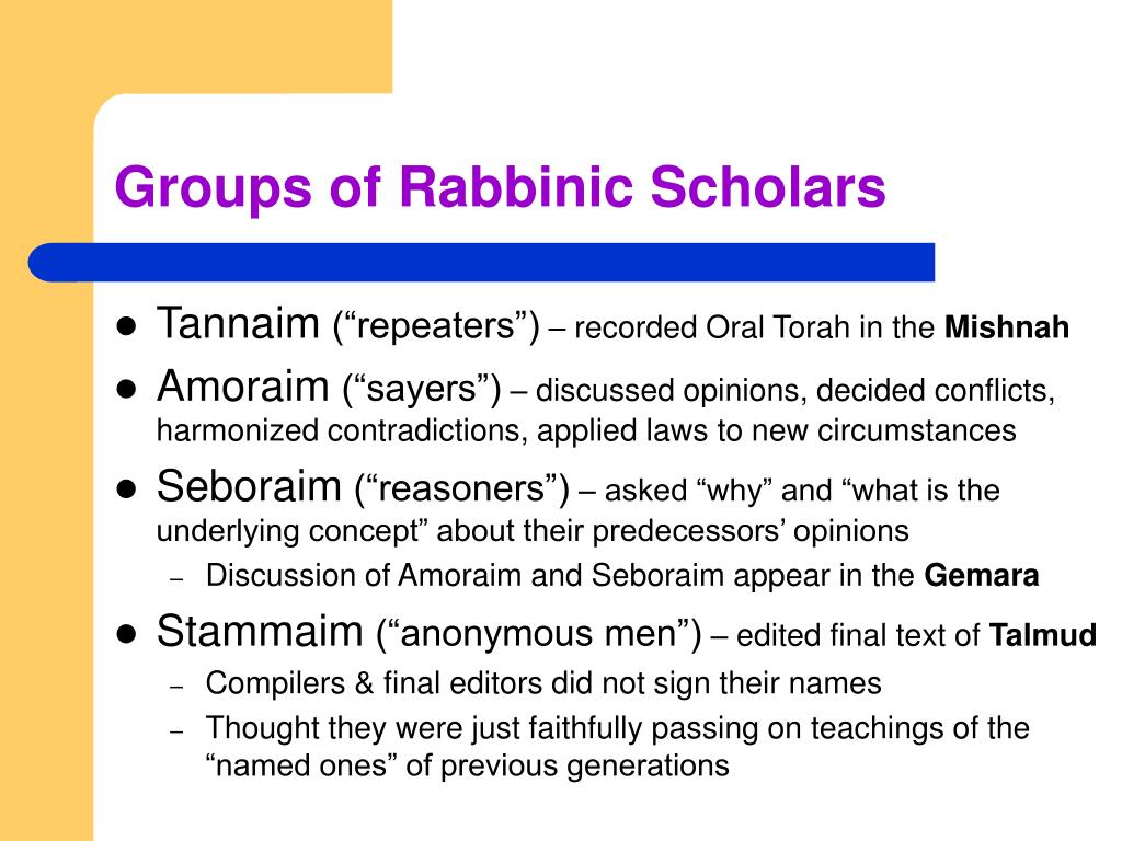 Groups of Rabbinic Scholars