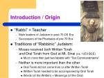 introduction origin