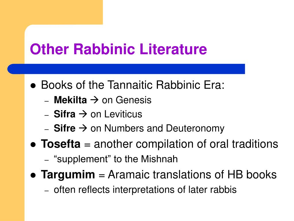 Other Rabbinic Literature
