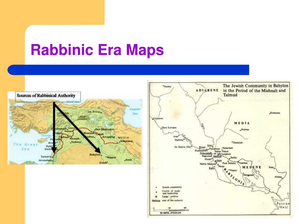 Rabbinic Era Maps