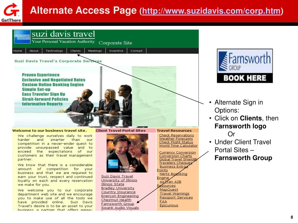 Alternate Access Page