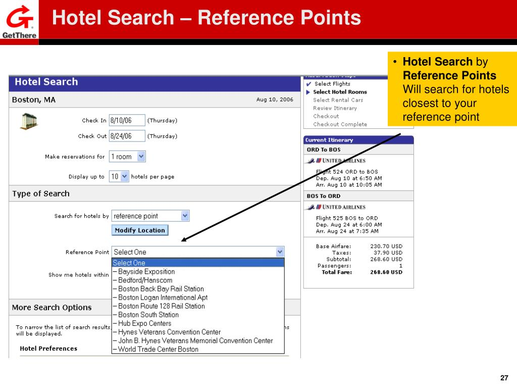 Hotel Search – Reference Points