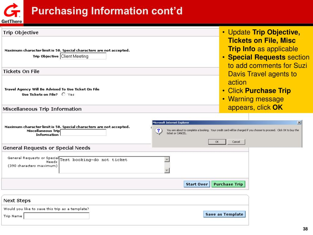 Purchasing Information cont'd