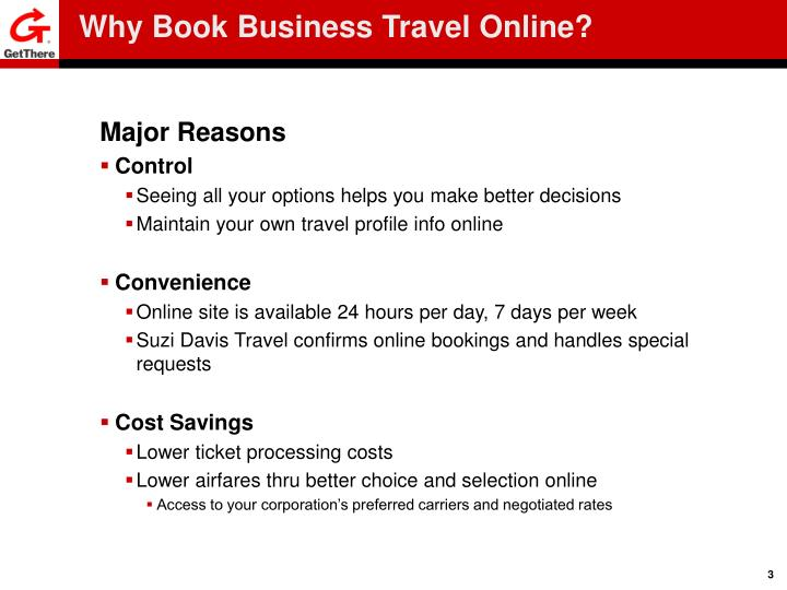 Why book business travel online