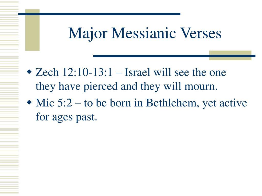 Major Messianic Verses